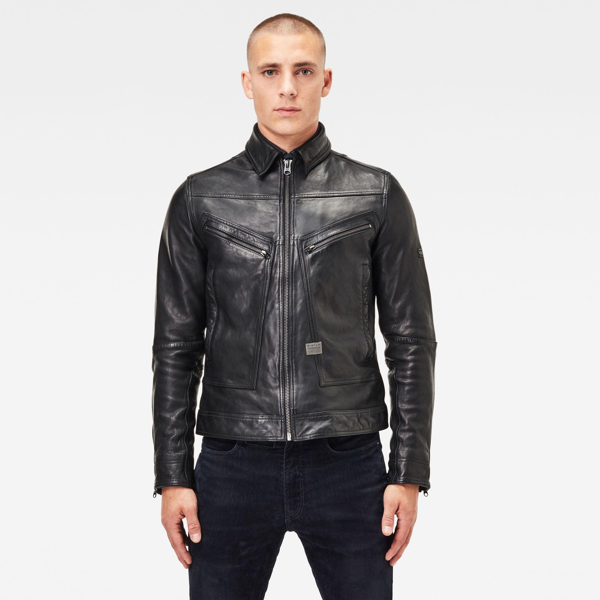 Air Force Lederen Jack Dark Black G Star Raw In 2021 Leather Jacket Leather Jacket Men Jackets [ 2000 x 2000 Pixel ]