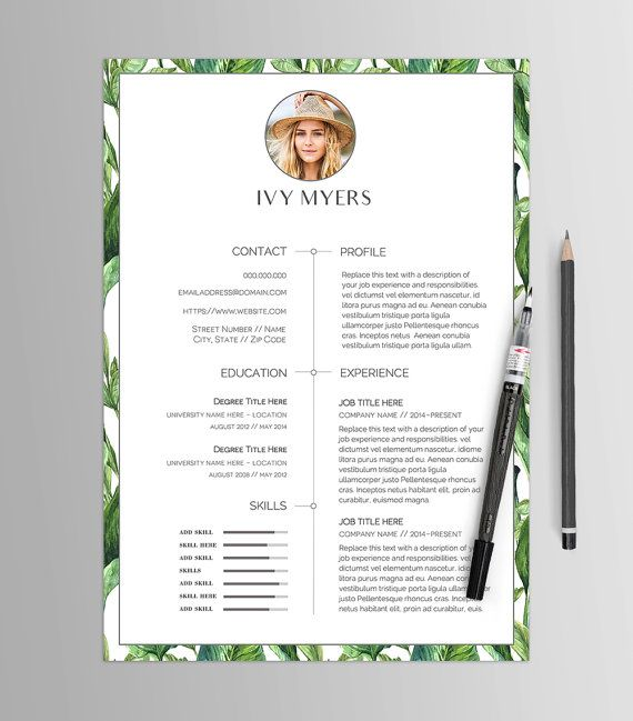 Resume Template No 12 \/\/ Creative CV \ Cover Letter \/\/ Business - modern professional resume