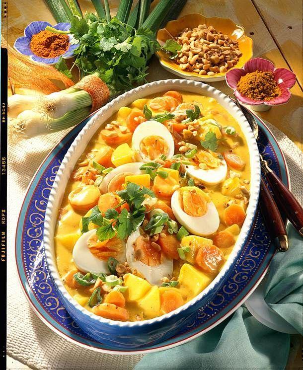Möhren-Kartoffel-Curry mit Eiern Rezept   LECKER