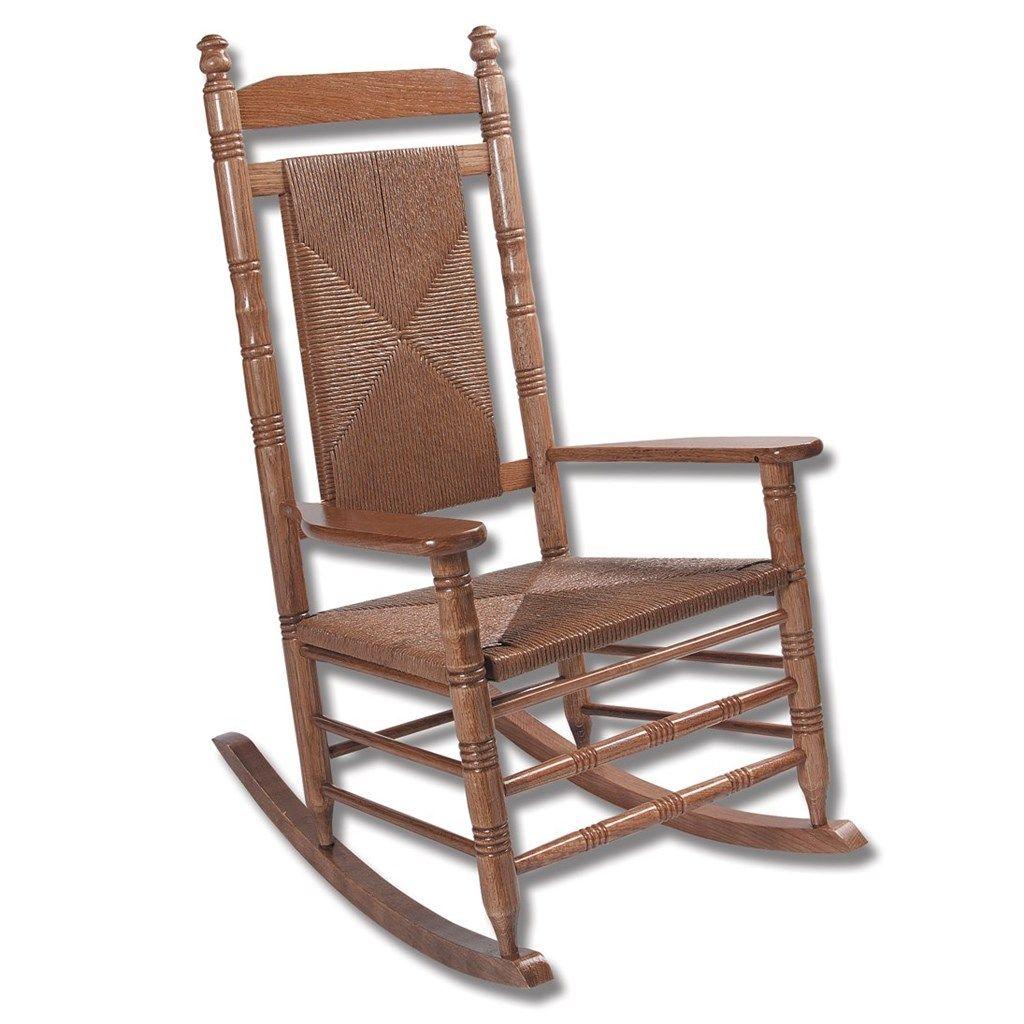 Hardwood woven seat rocking chair rta home furniture