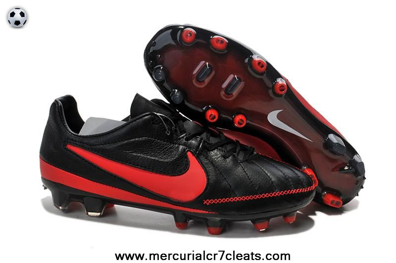 Black Red Nike Tiempo Legend CR7 V FG Nike Mercurial CR7 Legend Cleats c7ecdd
