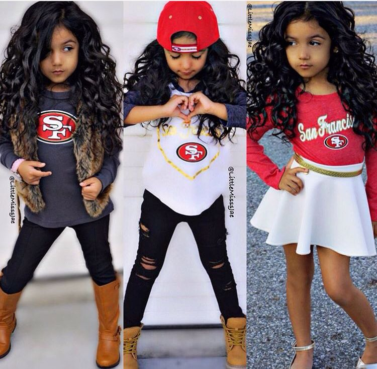 9e57790f Cute girls 49ers outfits | Sports Fashion ♡ | 49ers outfit, Kids ...