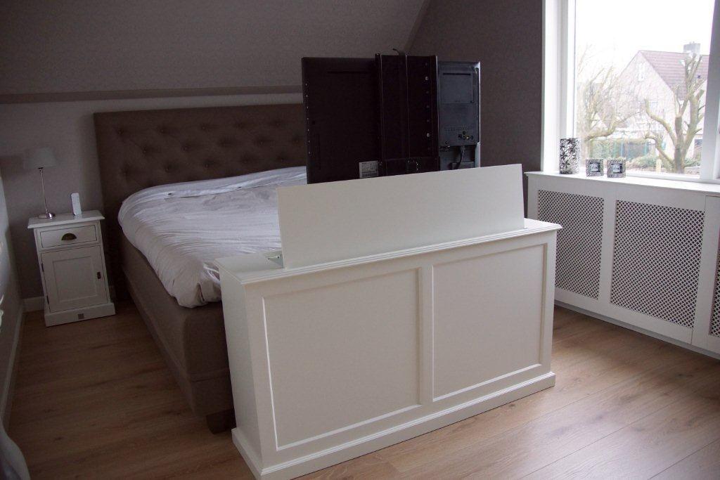 Wonderbaar Tv kast met lift Landelijk | Tv in bedroom, Tv lift bed, Bed WB-48
