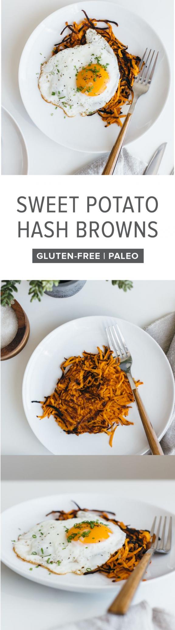 (glutenfree vegan paleo) These sweet potato hash browns