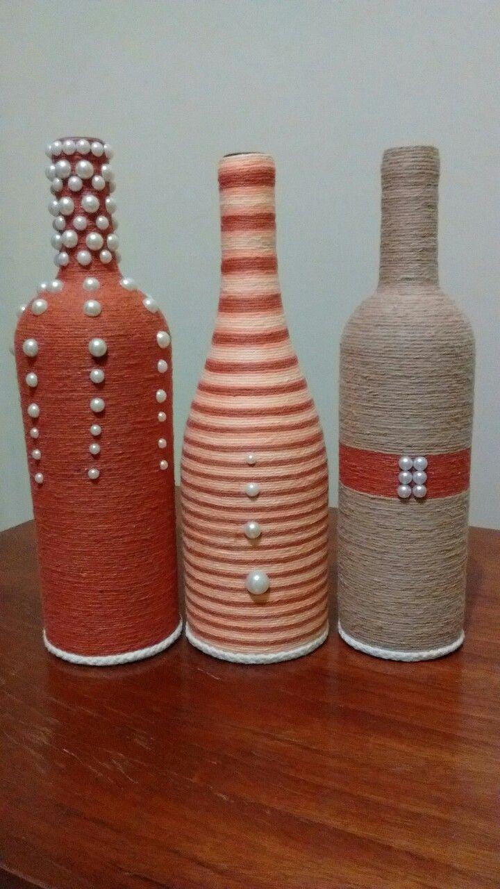 Minhas garrafas 2 flaschen und gl ser flaschen glas und deko im glas - Leere weinflaschen deko ...