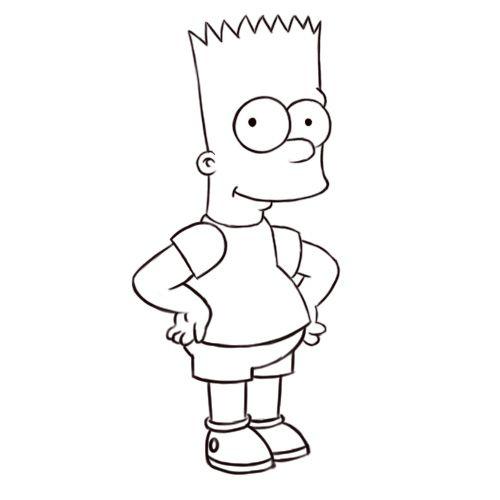 Draw Bart Simpson Cartoon Girl Drawing Drawings Cartoon Drawings