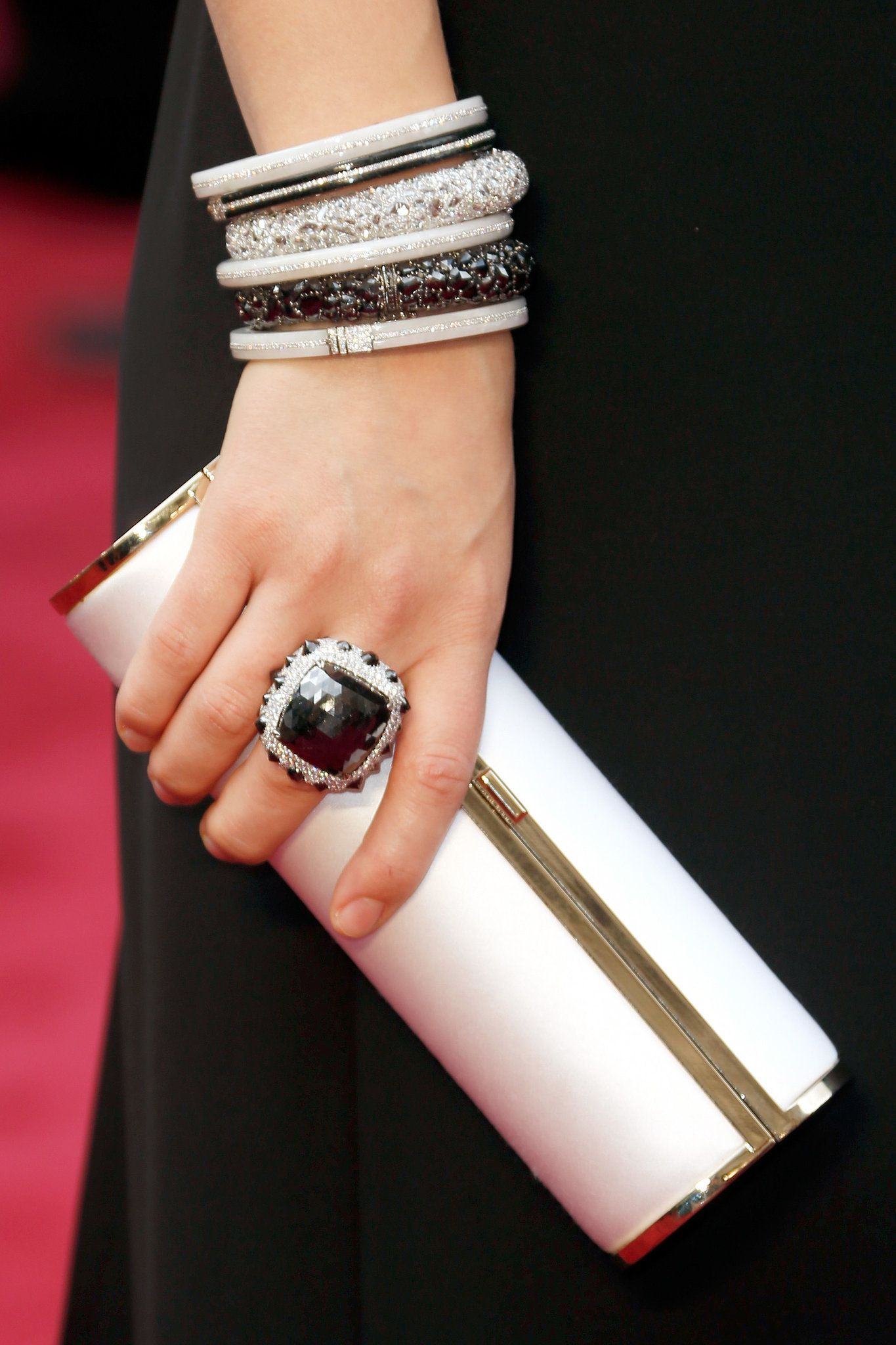 Olivia wilde lorraine schwartz and diamond bangle