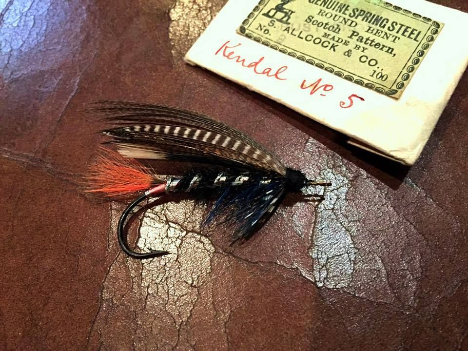 William Bass ..Fishing Gazette ..size 1/0 Harrison  By Stuart Hardy