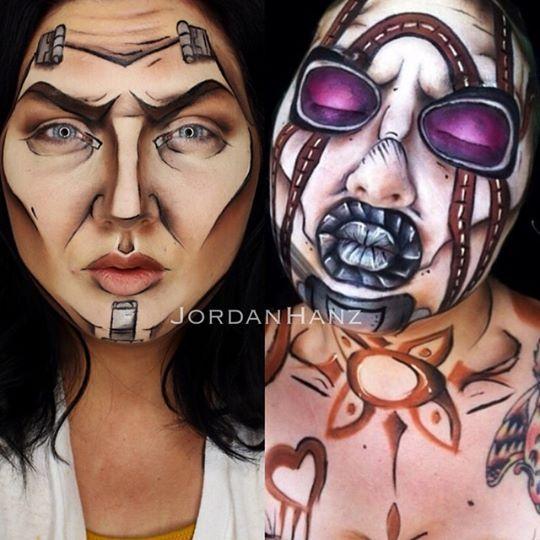 Handsome jack borderlands | halloween makeup tutorial | cosplay.
