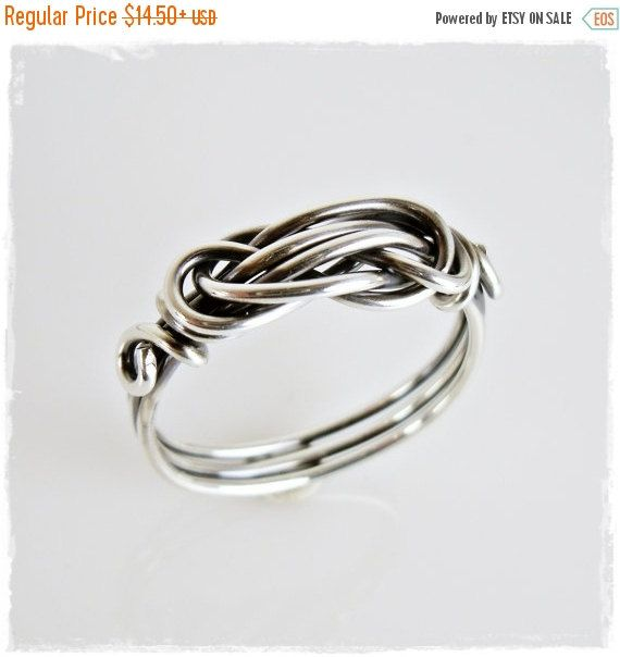 $10.88+ BLACK FRIDAY SALE Love Knot Ring Women\'s Wire by TTJJewelry ...
