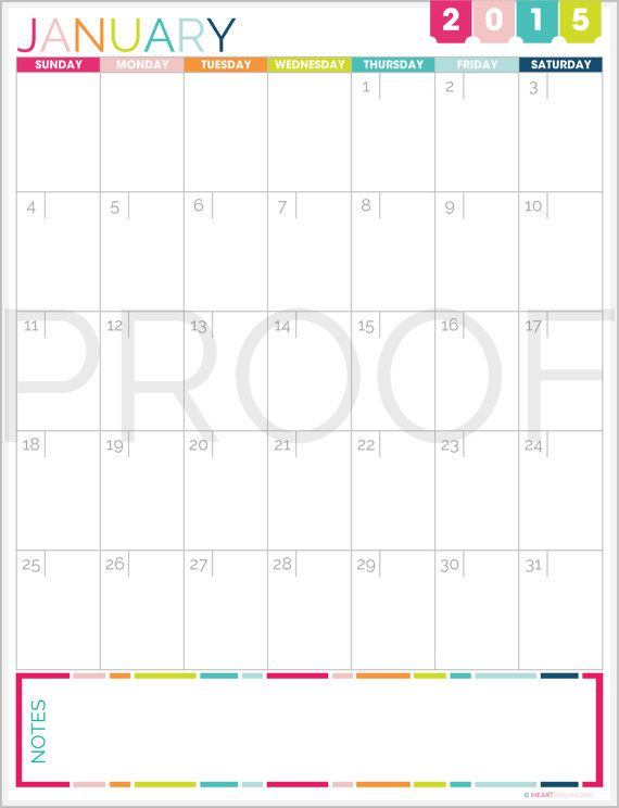 This Listing Is For A 12 Month 2015 Calendar In A Single Page