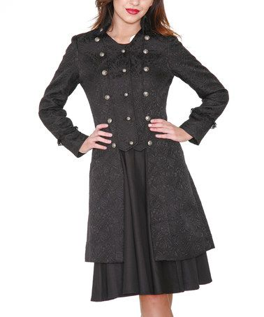 another great find on zulily black brocade corset coat