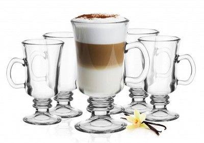 Szklanki Kawy Latte Irish 200ml Lyzeczki Prezent 6738150572 Oficjalne Archiwum Allegro Latte Beer Glasses Glassware
