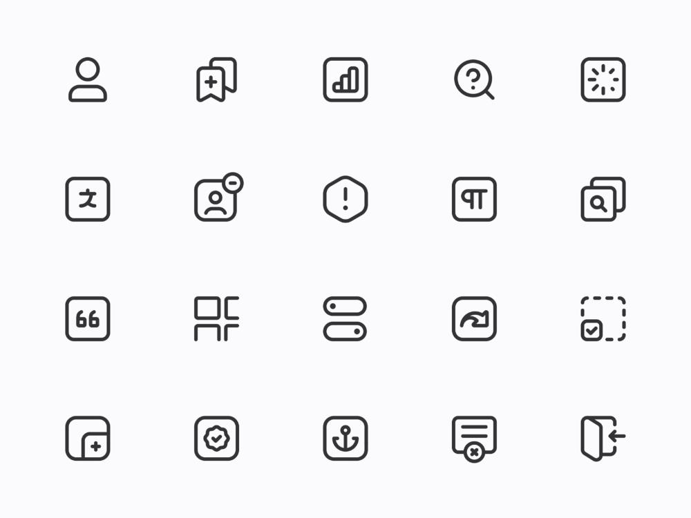 Pin di line style icon