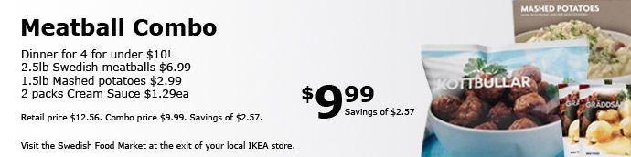 #19: IKEA meatball combo with Lingonberry Jam!  Yum!