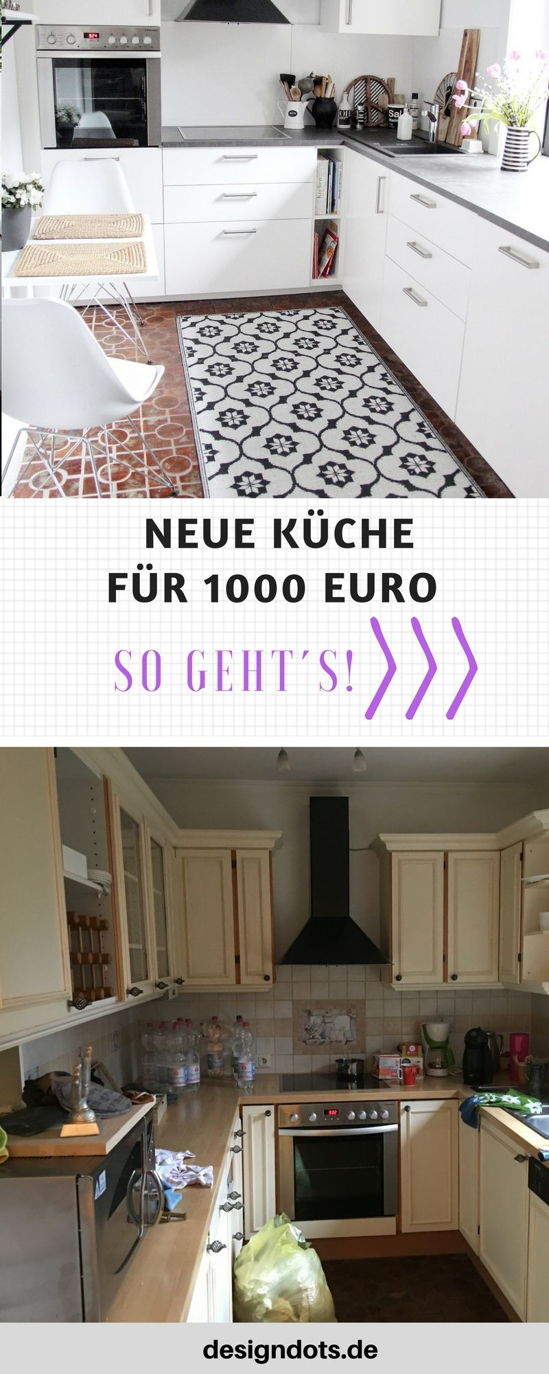 neue k che f r 1000 euro pinterest treppe renovieren renovierte k che und wohnung renovieren. Black Bedroom Furniture Sets. Home Design Ideas