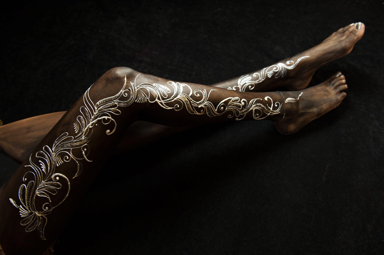 Henna Tattoo For Black Skin: Henna Body Art, Dark Skin Tattoo