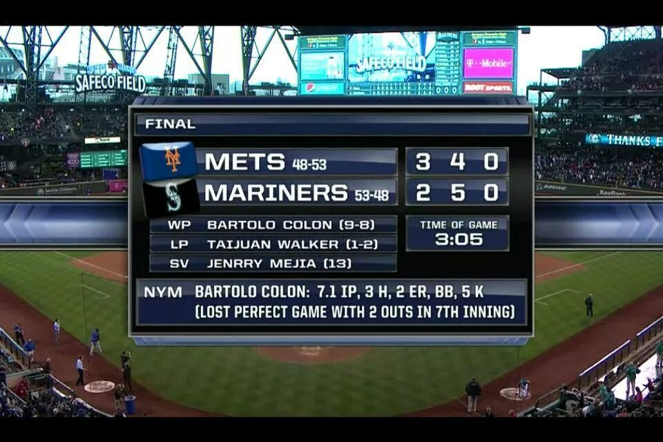 Mets Win {7 Innings Of Perfect Game} {July 23 2014}