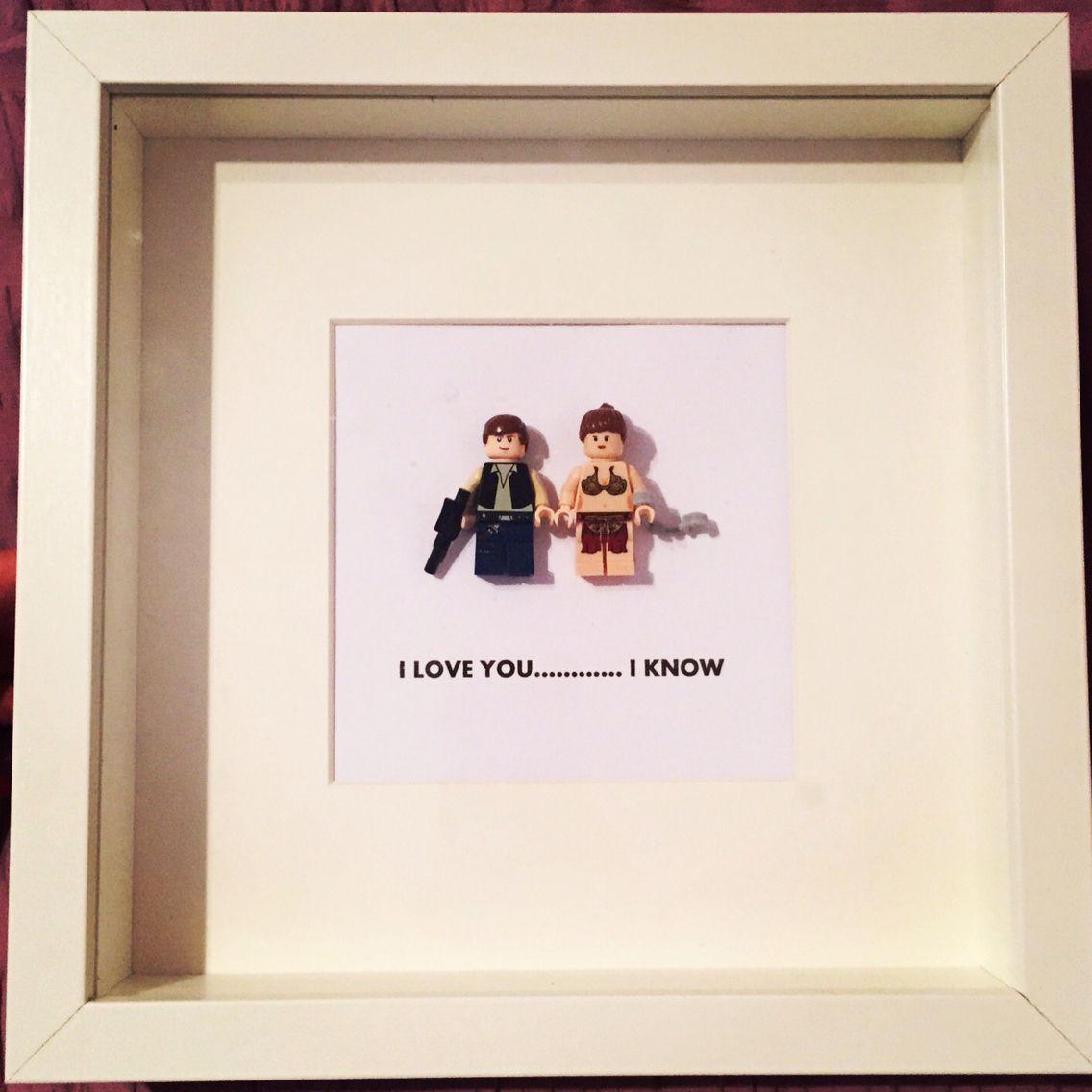 I love you.... I know Star Wars lego frame | Luma Gifts | Pinterest