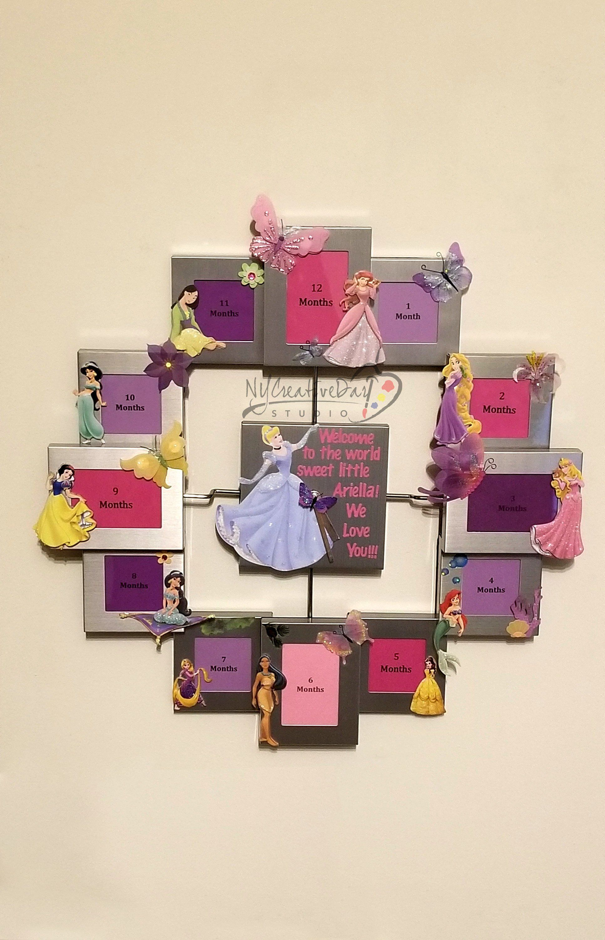 Disney Princesses,Baby Shower Gift,First Year Collage ...