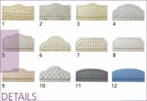 Bed Headrest Design shapes & tufts | sparkle | pinterest