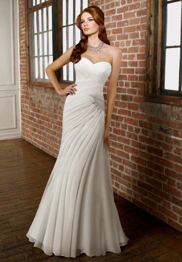 Very simple wedding dress | Simple weddings, Wedding dress and Wedding