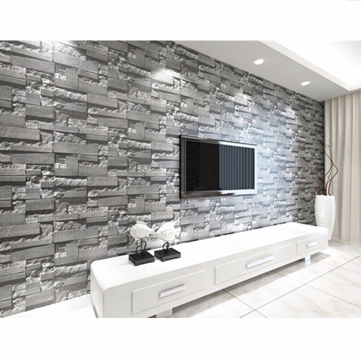 1 2 3 Pcs Dark Grey 3d Effect Wallpaper Stack Stone B
