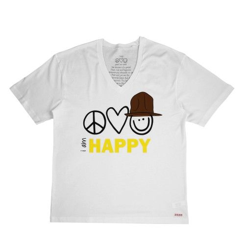 Colette Peace Love World X Pharrell Williams T Shirt