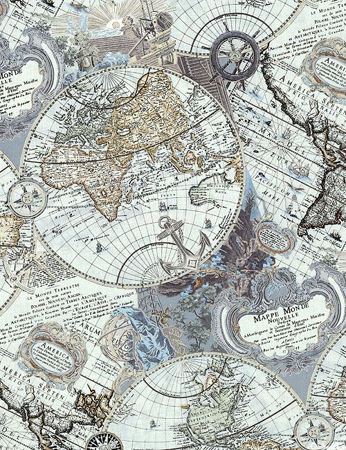 Vintage paper map of the world with aged stained and old 1800 vintage paper map of the world with aged stained and old 1800 names and locations world of old by ryan jorgensen classic antique pirate vibes publicscrutiny Gallery