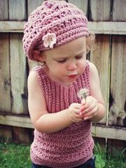 Are you an avid crocheter and want to crochet a sweet little girl a tank and beret and sample for the spring season? follow our step-by-step guide and you'll have a Mia tank and beret before you know it!