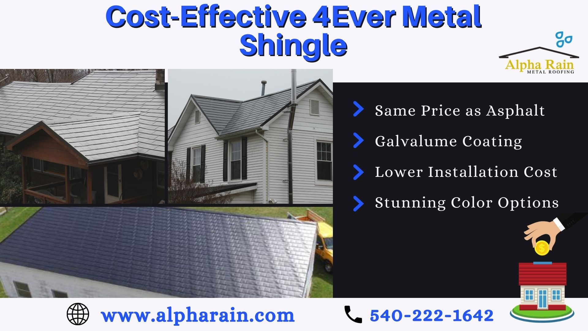 How 4ever Shingle Competes With Asphalt Shingle Cost Wise In 2020 Metal Shingle Roof Shingling Metal Roof