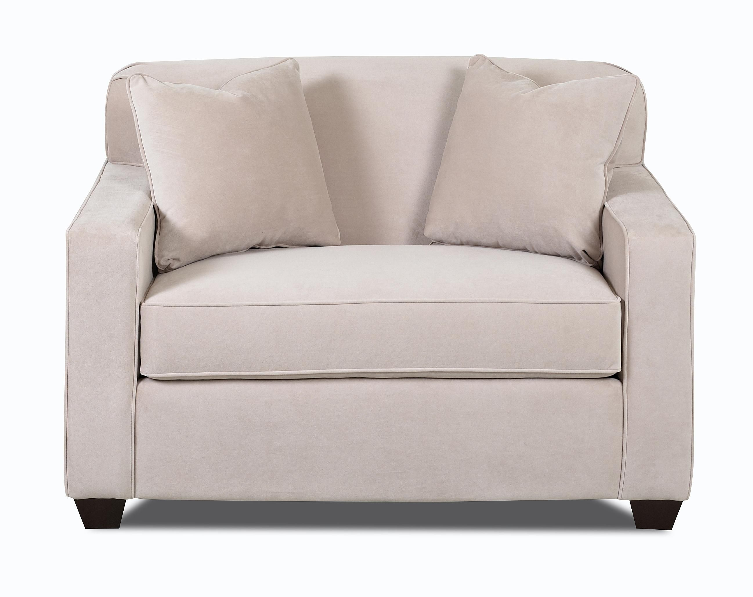 Gillis Dreamquest Chair Sleeper By Klaussner At Wayside Furniture Rolled Arm Chair Track Arm Chair Armchair