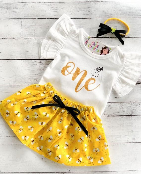 Personalized First Birthday Outfit  Baby Girl First Birthday Outfit  Yellow Birthday Outfit  Personalized Birthday Romper