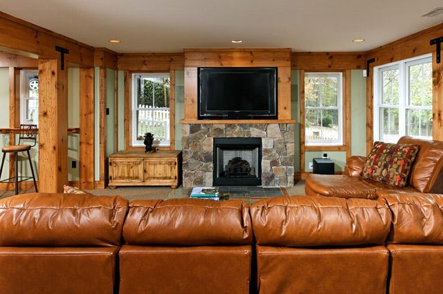 Man Cave Group : A rustic basement the man cave pagenstecher group transitional