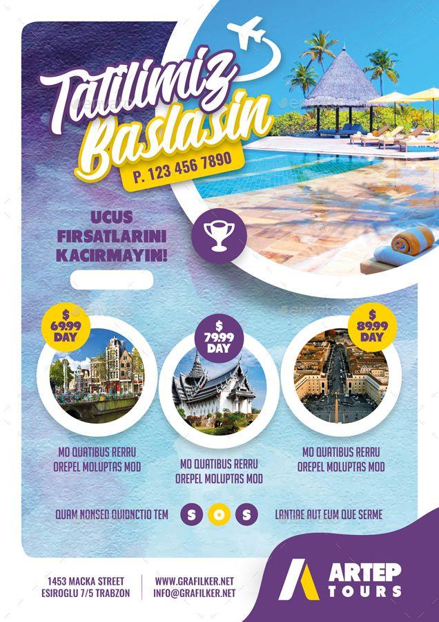 Travel Tours Flyer Bundle Templates Tours Travel Flyer