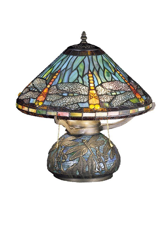 Meyda Tiffany 27159 17 Inch Height Tiffany Dragonfly With Tiffany Mosaic Base Table Lamp Tiffany Table Lamps Lamp Table Lamp