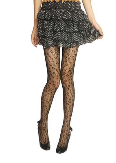 Cool w Fashion Lady's Sexy Tattoo Leopard Lace Body Elegant Stockings Pantynose