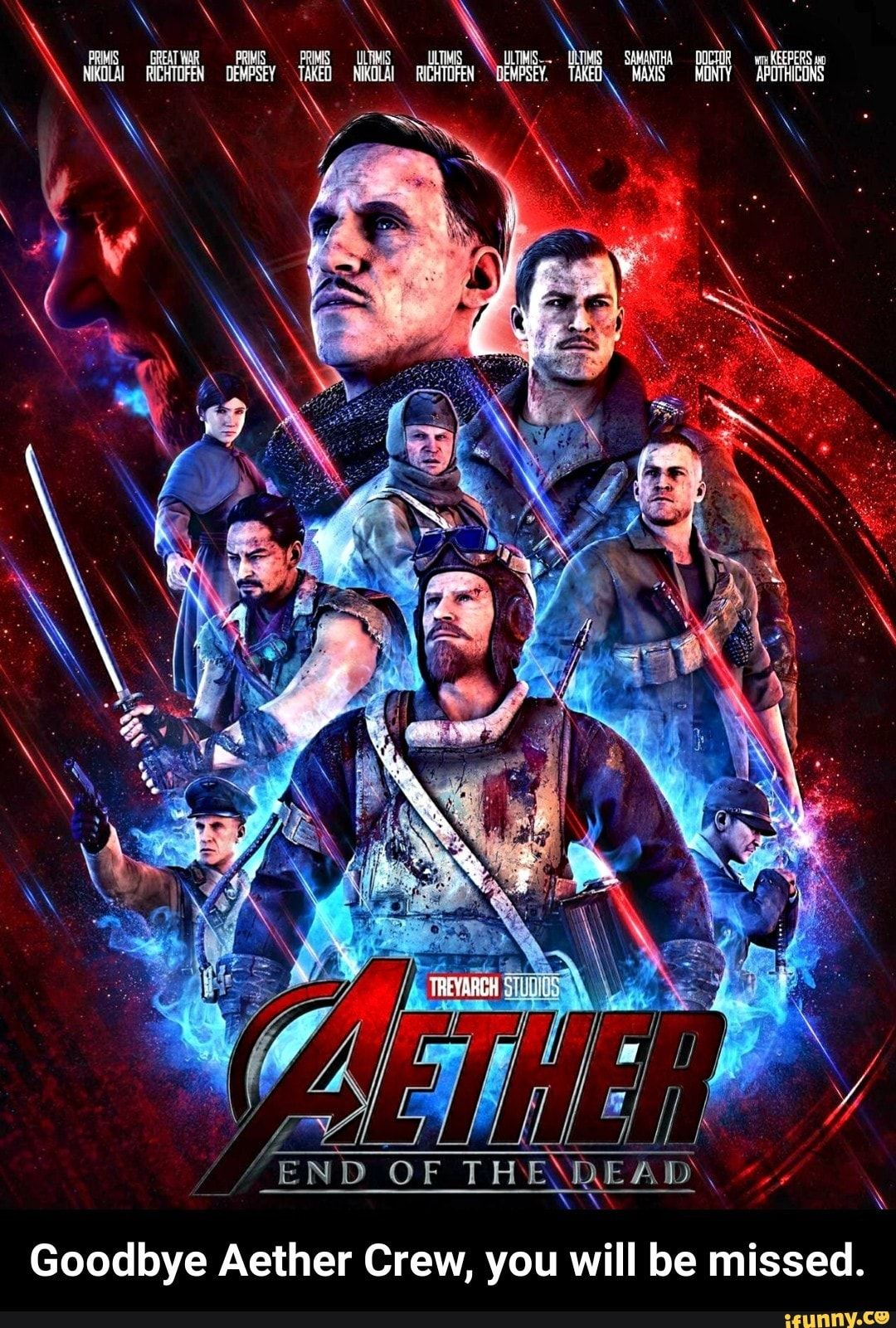 Goodbye Aether Crew You Will Be Missed Ifunny Call Of Duty Zombies Zombie Wallpaper Black Ops Zombies