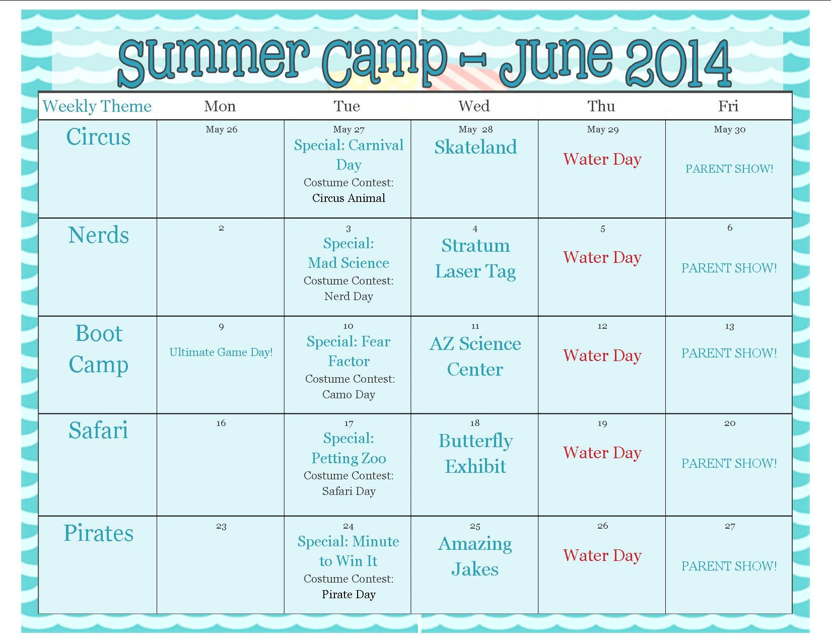 summer program themes | theme ideas, themes for summer camp sessions
