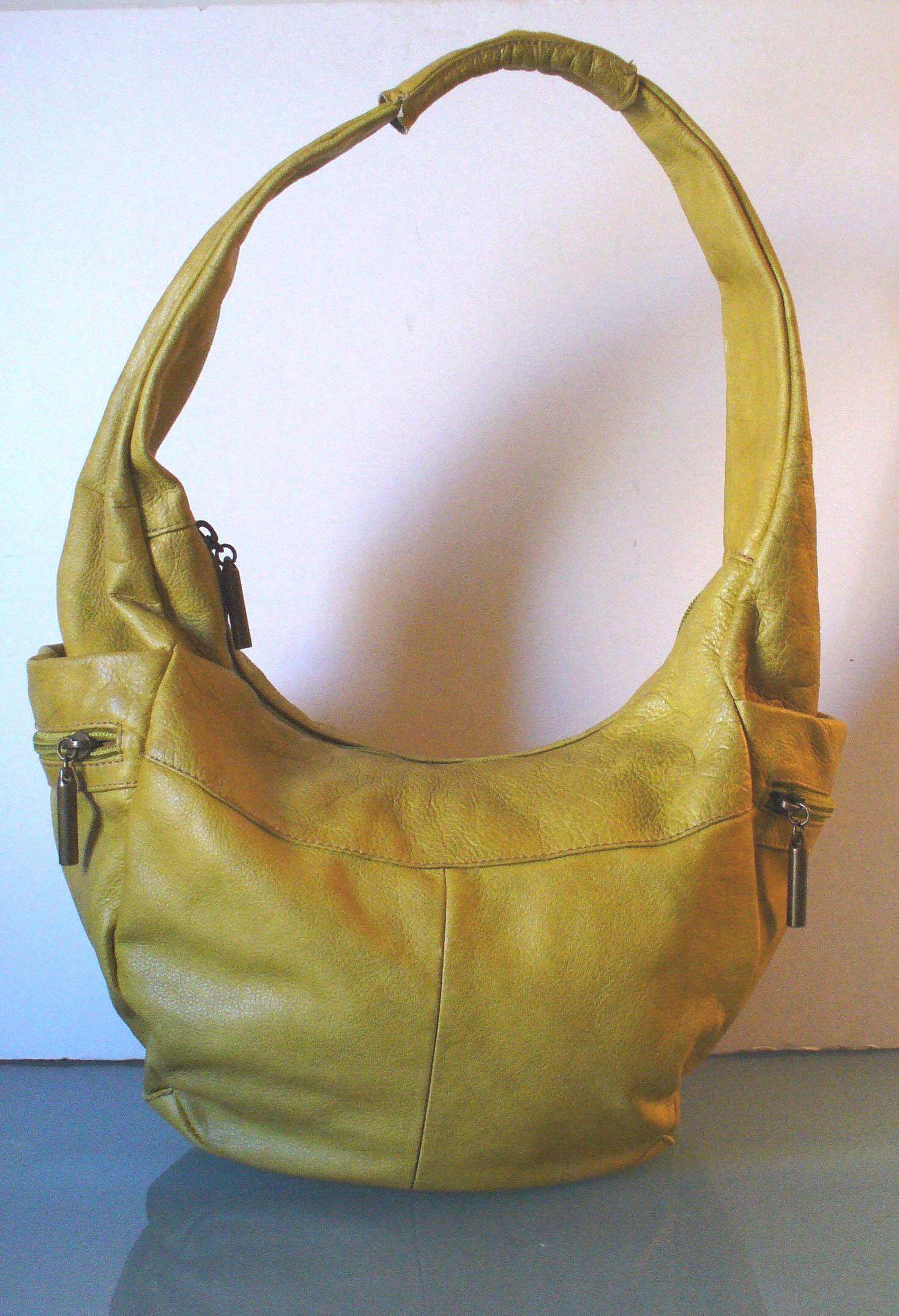 8fa131fcf662d Avorio Made in Italy Mustard Yellow Hobo Bag by EurotrashItaly on Etsy
