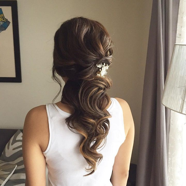 10 Glamorous Half Up Half Down Wedding Hairstyles From: This Beautiful Half Up Half Down Bridal Hairstyle Perfect