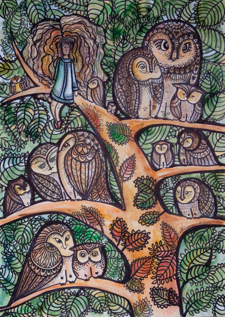 Дерево, полное буривухов https://vk.com/photo-26263517_284622615