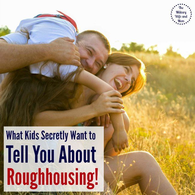 Great read! Do you roughhouse with your kids?