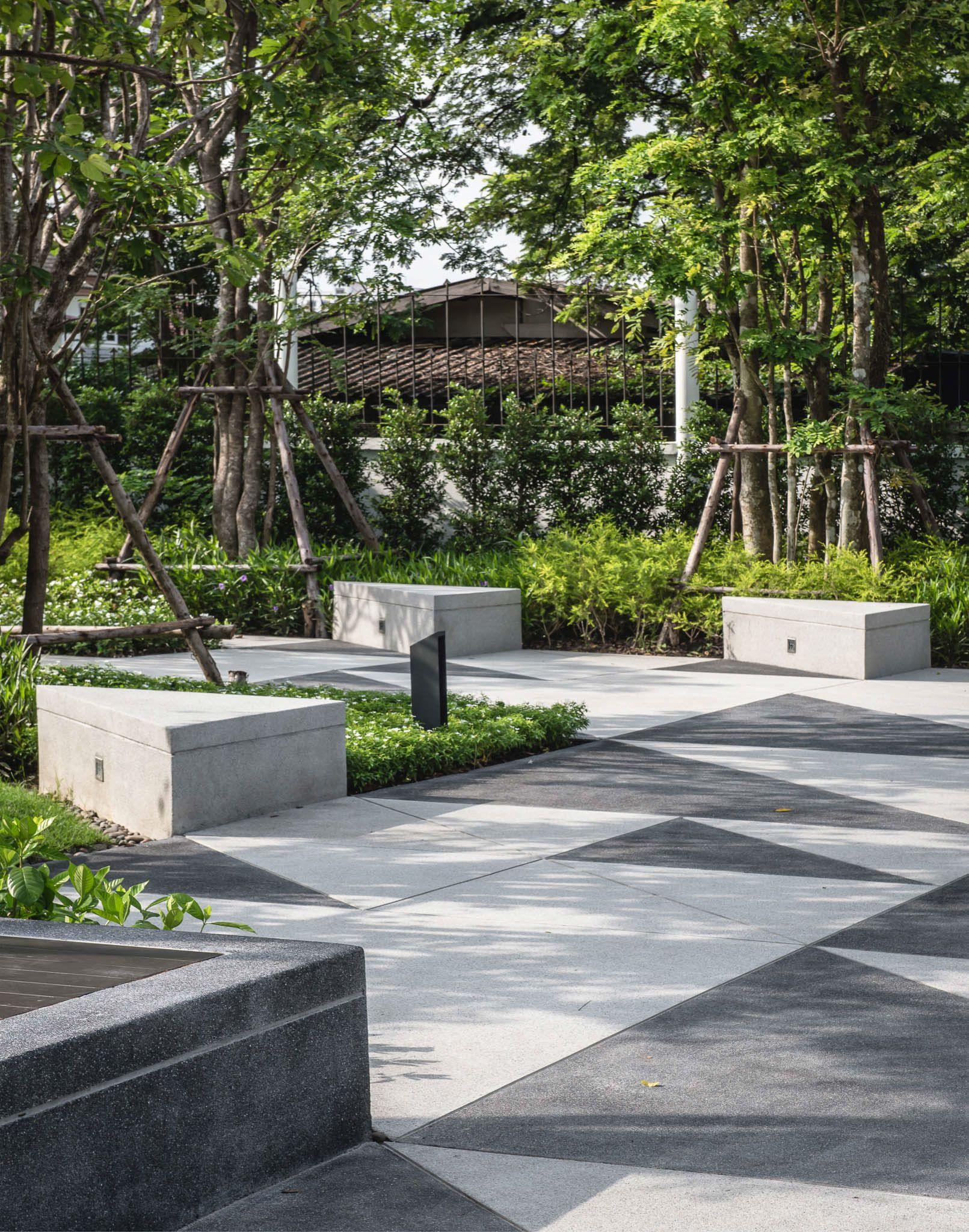 Modus Vibhavadi Landscape Kernel Design On Behance Urban Landscape Design Landscape Architecture Plaza Design
