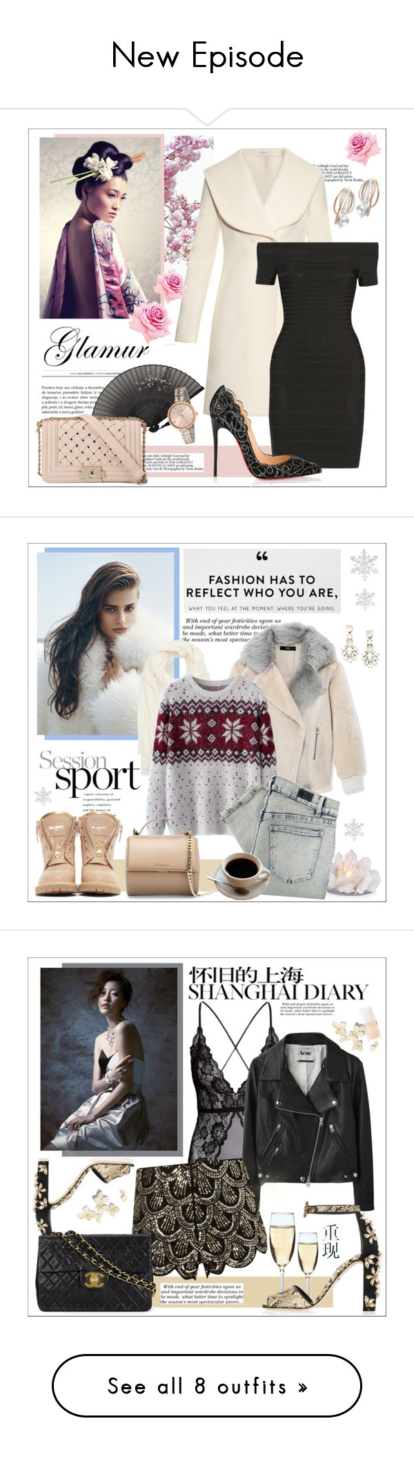 """""""New Episode"""" by kitty-kat9 ❤ liked on Polyvore featuring мода, Mikimoto, Kate Spade, J.W. Anderson, Behance, Hervé Léger, Christian Louboutin, Victoria Beckham, Portolano и TIBI"""