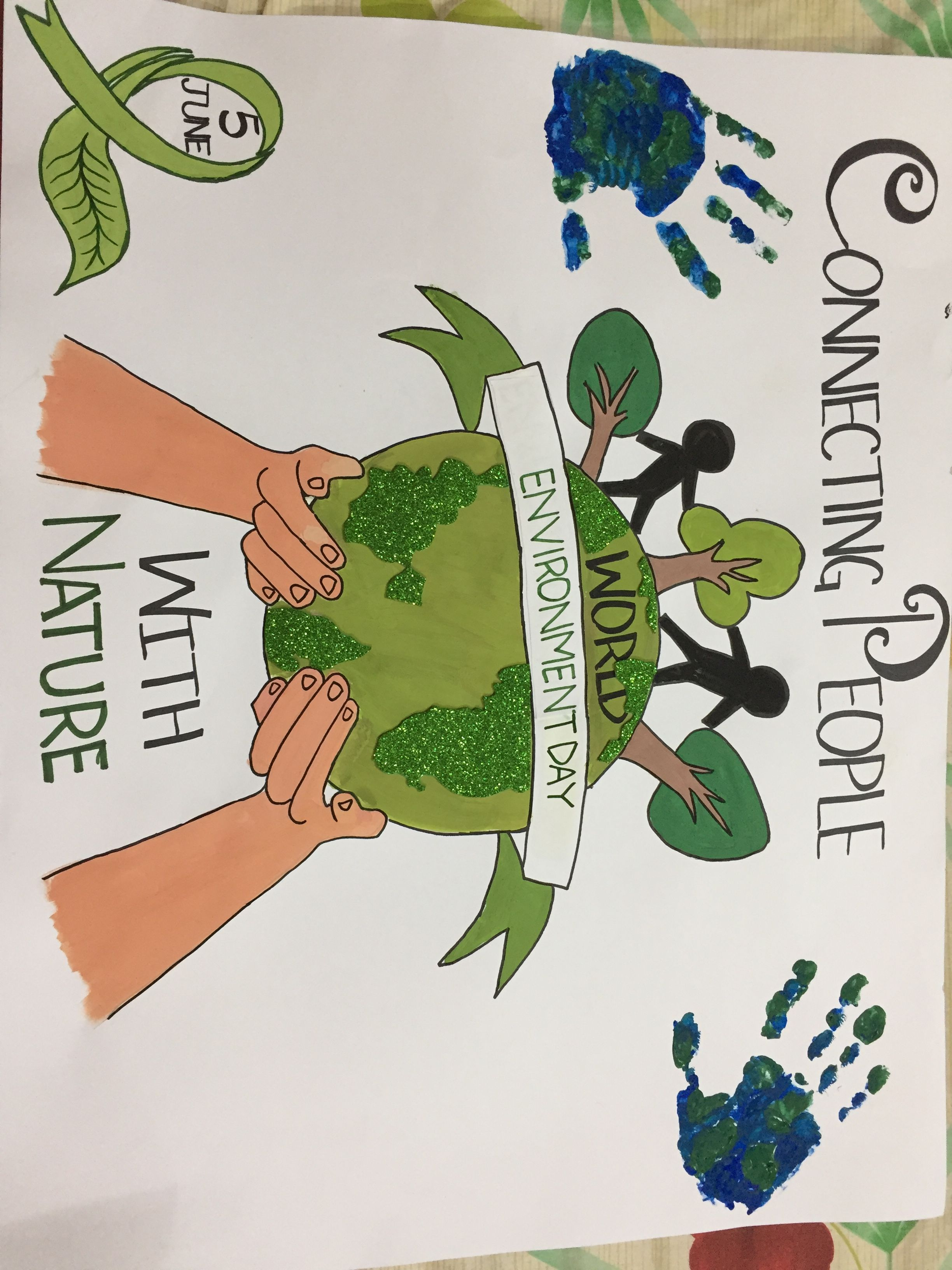 World Environment Day Connecting People With Nature Poster Making