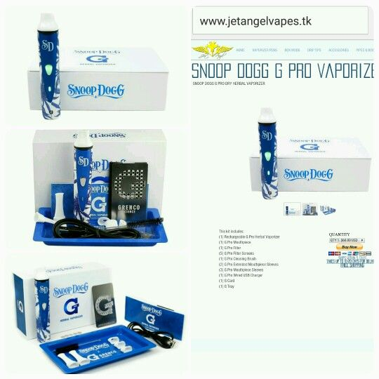 Snoop Dogg G Pro Vaporizer Buy 1 G PRO Vape for $60 | 2 G PRO Vapes for $105 | 3 G PRO Vapes for $160 | and 4 G PRO Vapes for $195 | SHOP AT www.JetAngelVapes.tk