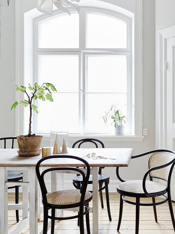 Black Bentwood Chairs  . Bright Dining RoomsBlack ...