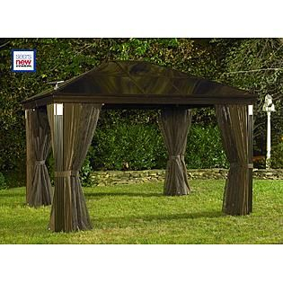 Grand Resort 10 Ft X 14 Ft Lighted Hardtop Gazebo