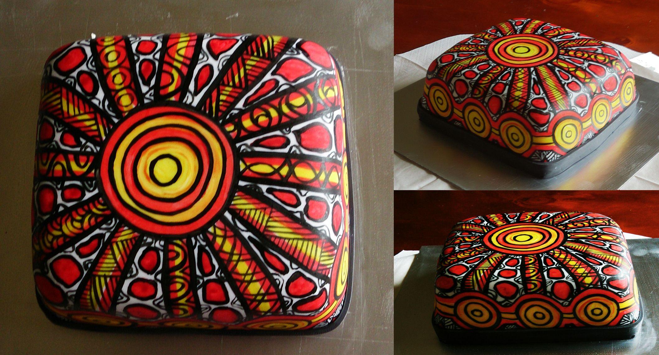 Corroboree Aboriginal Christmas Cake by Novy Christmas cake